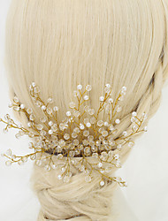 Women's / Flower Girl's Crystal / Alloy / Imitation Pearl Headpiece-Wedding / Special Occasion Hair Combs 1 Piece Clear