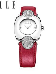 Senhoras relógio autêntica moda quartzo relógio relógio à prova d'água cinto