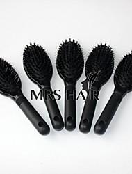 d estilo plástico escova de cerdas de loop para extensões de cabelo pente para o salão de cabelo ondulado 5pcs muito