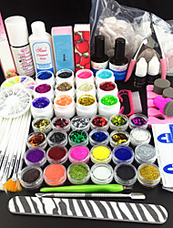 80pcs brillo de color uv gel limpiador de uñas imprimación conjunto kit de arte