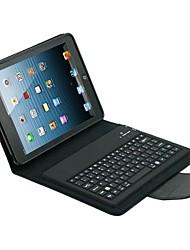 caja de cuero con el teclado para el aire ipad