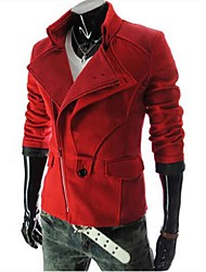Men's Long Sleeve Short Trench coat , Cotton Pure