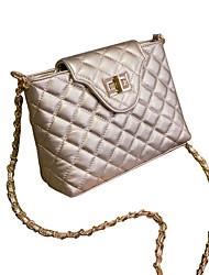 Women PU Sling Bag Shoulder Bag - White/Gold/Black