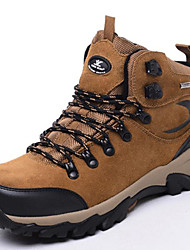 Men's Hiking Shoes Leather Brown / Green
