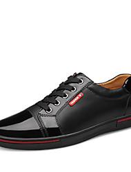 Черный / Синий Мужская обувь Для офиса / На каждый день / Для вечеринки / ужина Кожа Оксфорды