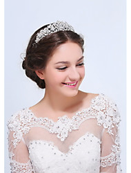 Women's Sterling Silver Alloy Headpiece-Wedding Special Occasion Casual Tiaras 1 Piece