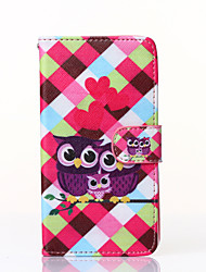 Love Owls Pattern PU Leather Full Body Case with Stand for Huawei P8 lite