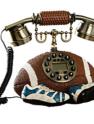 américaine de football de créatrice de mode filaire téléphone antique