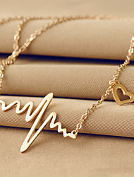 Жен. Ожерелья с подвесками В форме сердца Титановая сталь 18K золото Базовый дизайн Уникальный дизайн Любовь бижутерия Бижутерия