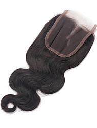 8-18 inch Natural Black Lace Front Body Wave Human Hair Closure Light Brown Swiss Lace 40g gram Average Cap Size