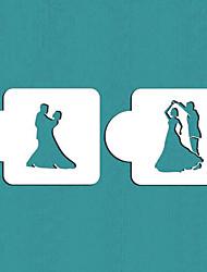 подарок танцующая пара торт трафарет трафарет печенье Валентина, ул-359