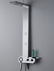 Shower Faucet Contemporary Rain Shower / Sidespray / Handshower Included Stainless Steel Chrome Shower Panel