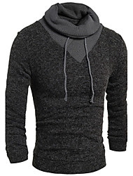 look,Men's High-Neck Sweaters , Cotton / Rayon Long Sleeve Vintage / Casual Fashion Winter / Fall look