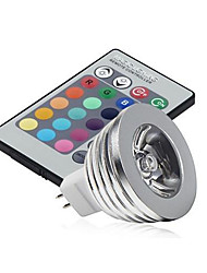GU5.3(MR16) Luci LED da palcoscenico MR16 1 LED ad alta intesità 250 lm Colori primariIntensità regolabile Controllo a distanza