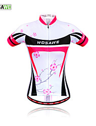 WOSAWE Outdoor Sportswear Women Cycling Jersey Plum flower-New Bicycle Short-Sleeved