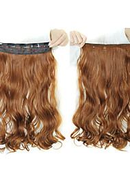 24 Inch 120g Long Heat Resistant Synthetic Fiber Curly 5 Clip In Hair Extensions