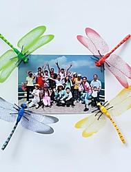 Four Color Three-Dimensional Simulation Dragonfly Fridge Magnets(4PCS)(Random Color)