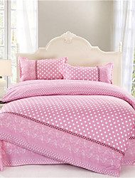Mingjie® Pink Circle Queen and Twin Size Sanding Bedding Sets 4pcs for Boys and Girls Bed Linen China Wholesale