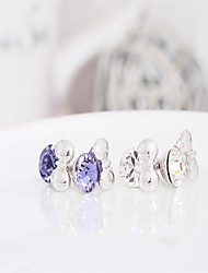 Mercurial superfly Cute/Party/Work/Casual  Crystal Bow Cartoon Mouse Earrings Silver Earings 925 Women