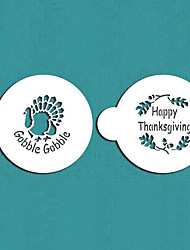 Thanksgiving Cookie Stencil Set,Cake Decorating Supplies,Celebration Design Stencils,Decorations for Cakes,ST-567