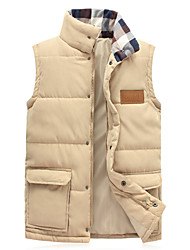 Uonuode Man'S Korean Version Of The Fall And Winter Vest Hooded Vest Cotton Sleeveless Vest Plus Size