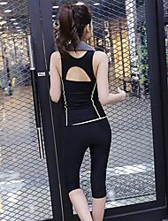 Outros Mulheres Ioga Ternos Sem Mangas Materiais Leves Others Ioga / Pilates / Fitness / Esportes Relaxantes / Corrida S / M / L