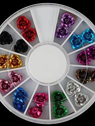 Beautiful Multicolor Roses Metal Diy Nail Art Decorations