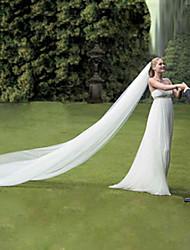 Princess Bride Wedding Veil One-tier Cathedral Bridal Veils Cut Edge Length 500CM