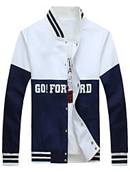 Men's Stitching Letters Printed Sports Baseball Jacket