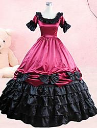 Sweet Lady Sleeveless Knee-length Black and Red Cotton Sweet Lolita Dress