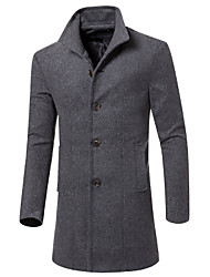 Uonuode Man'S korean Men'S Long Coat Wool Coat Male Jacket 5 Colors