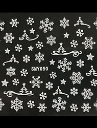 3D Christmas Snowflake Christmas Trees Nail Art Stickers
