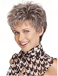 European  Woman's Straight Short Synthetic Wigs