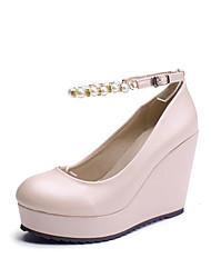 Women's Shoes  Wedge Heel Wedges/Heels/Platform/Round Toe Pumps/Heels Casual Green/Pink/White