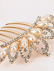 South Korea High-Grade Ornaments in Combs Hair Clasp Diamond Pearl Twist  Crown