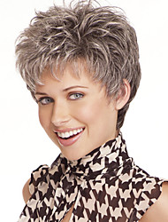 New Fashion Lady Popular High Temperature Wire Short Gray Hair Wig  Can Be Very Hot Can Be Dyed