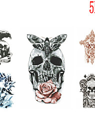 (5PCS) 2016  High Quality Creative Personality Fashion Waterproof  Unique Skull