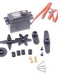 Power HD HD-6001MG Speed Metal Gear Servo w/ Accessories Set for 1:10 Drift R/C Car / SUVs - Black