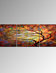 VISUAL STAR®Hand-Painted Abstract Tree Canvas Oil Painting High Quality Painting Ready to Hang