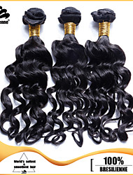 "3pcs/lot 12""-30"" Brazilian Virgin Hair Jet Black Nadi Curl Human Hair Extensions Hair Weaves Tangle Free"