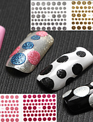 10 PCS Mixed more colors fashion Nail Sticker Art Sticker For Nail Decals