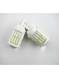T20 7440 36 * 7020smd холодный белый свет 28W 1200LM лампы для автомобилей 12-24 2шт