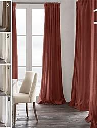 twopages prémio 100% linho natrual pitada plissada cortina cortina de um painel