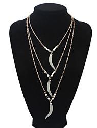 Preciosity Alloy/Imitation Pearl/Resin Layer Chain Pendant Necklaces