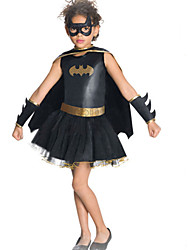 Halloween / Carnival Kid Super Heroes Costumes Dress / Bra / Gloves / Cloak