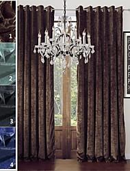 twopages collection sophia chenille solide rayonne mélange rideau de poids lourd drapé un panneau