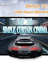 RedGoldLeaf® 84Inch 16:9 Maxwhite Wall Mount Screen