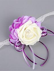 Свадебные цветы В свободной форме Розы Букетик на запястье Свадьба / Партия / Вечерняя Атлас / Эластичный атлас