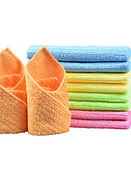 Sinland Household Multi-purpose Microfiber Cleaning Cloths Kitchen Cloth With Strips 12 Inchx12 Inch 10 Pack