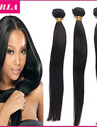 7a recta 3pc pelo virginal brasileño del pelo pelo humano remy virginal recta teje